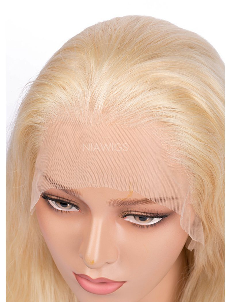 Load image into Gallery viewer, #613 Blonde Body Wave Human Hair Lace Front Wigs