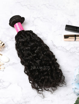 Hair Weft With Lace Closure Natural Color Brazilian Curly Human Hair