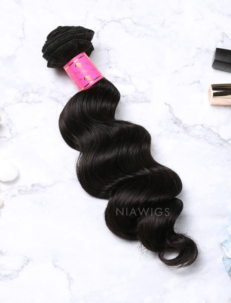 Load image into Gallery viewer, Hair Weft Bundles Natural Color Brazilian Loose Deep Human Hair