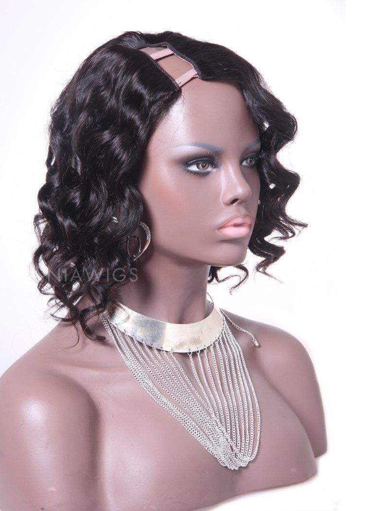 Load image into Gallery viewer, Loose Wavy U Part Human Hair Wig Right Parting Upart Wigs