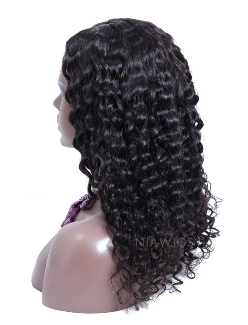 Load image into Gallery viewer, Curly U Part Human Hair Wig Natural Black Upart Wigs