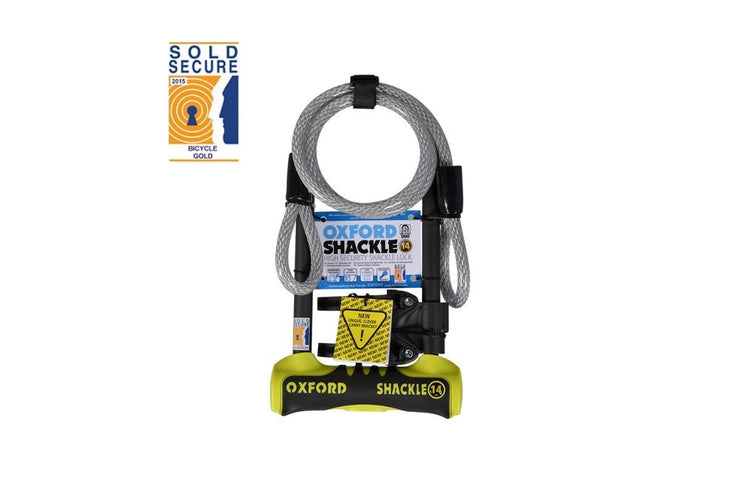 Oxford Shackle 14 Duo U-Lock 320 x 177mm - Yellow