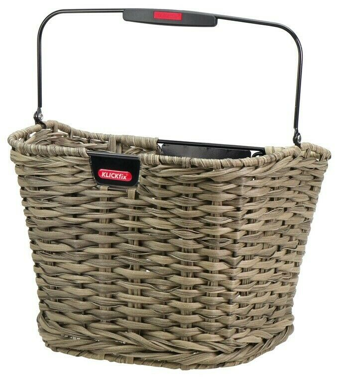 Rixen & Kaul Structura Front Basket Reed Brown