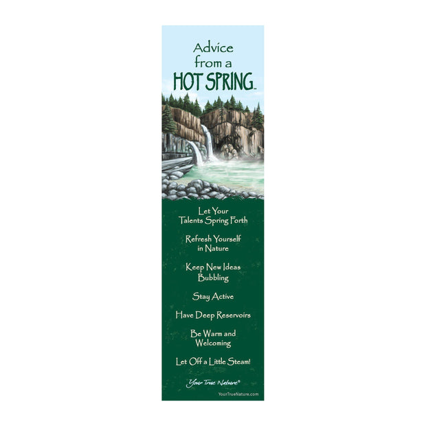 Classic Hot Spring Laminated Bookmark