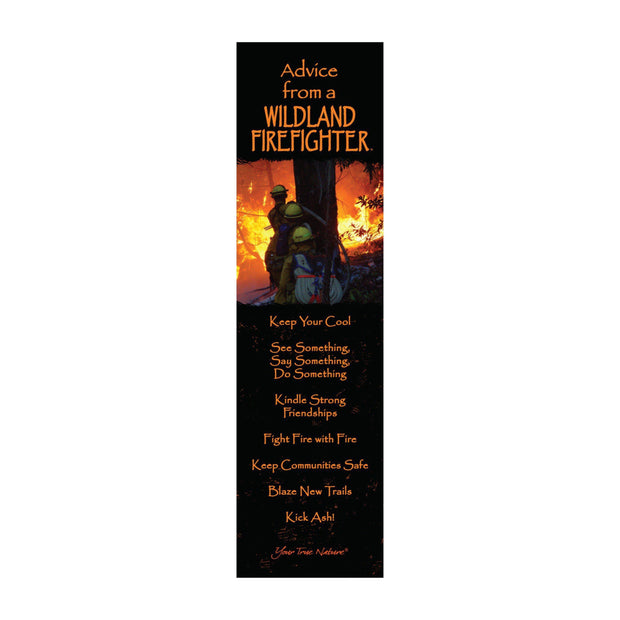 Classic Wildland Firefighter Laminated Bookmark