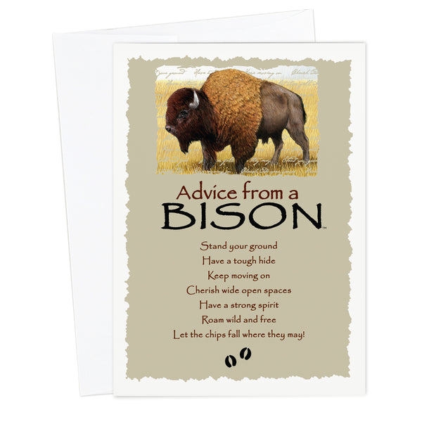 Advice from a Bison Greeting Card