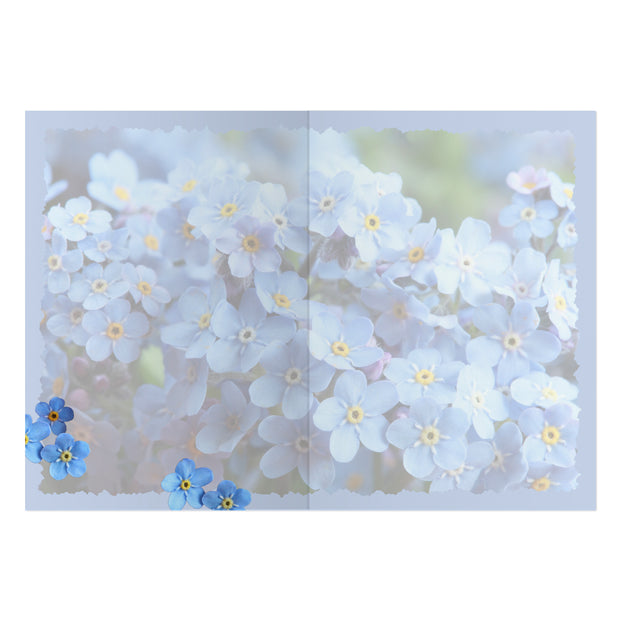 Classic Forget Me Not Greeting Card