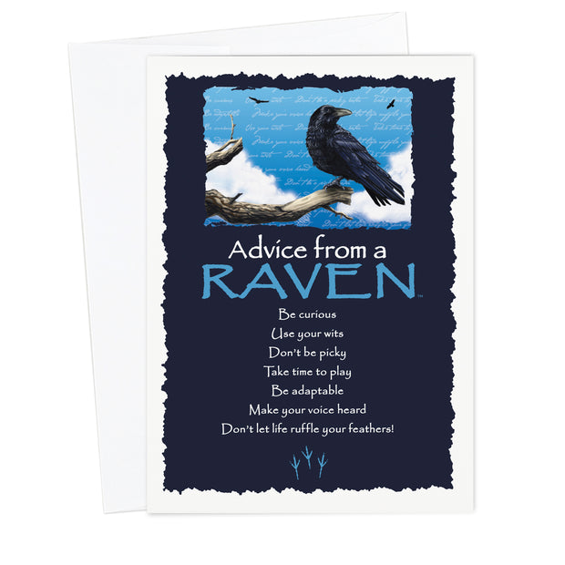 Classic Raven Greeting Card