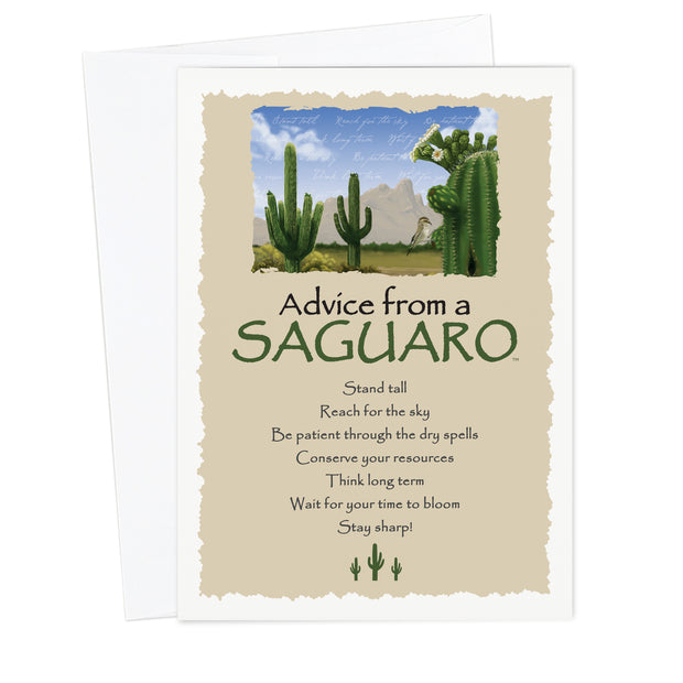 Advice from a Saguaro Greeting Card