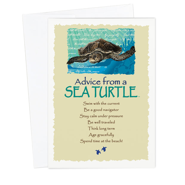 Classic Sea Turtle Greeting Card