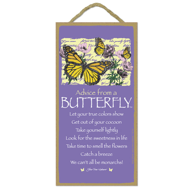 Classic Butterfly Wooden Sign