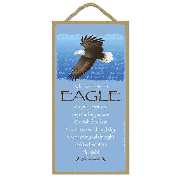 Classic Eagle Wooden Sign