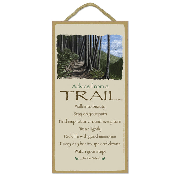 Classic Trail Wooden Sign