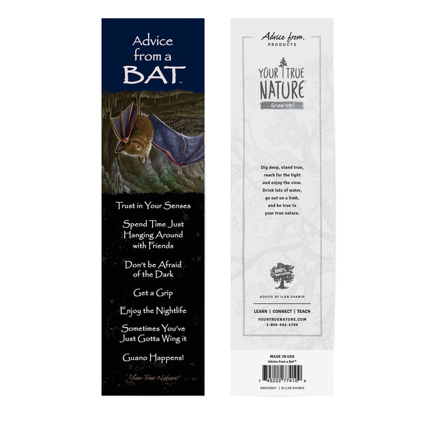 Classic Bat Laminated Bookmark