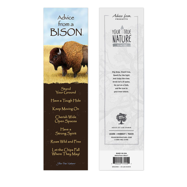 Classic Bison Laminated Bookmark