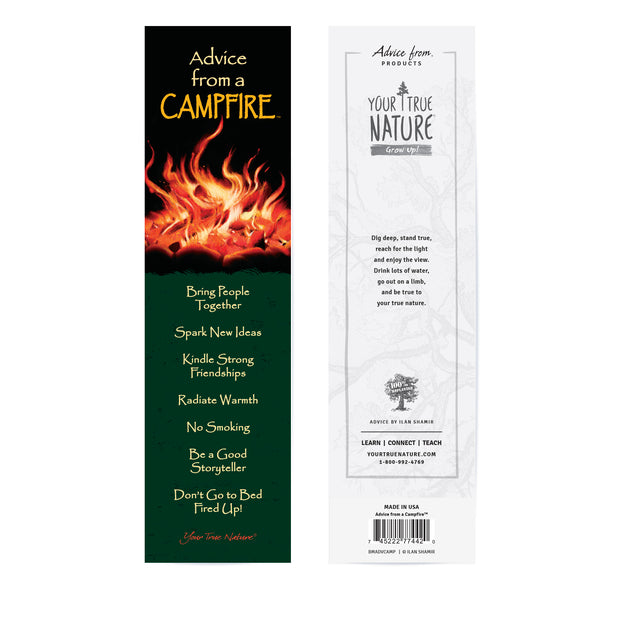Advice from a Campfire Laminated Bookmark