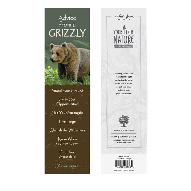 Classic Grizzly Laminated Bookmark