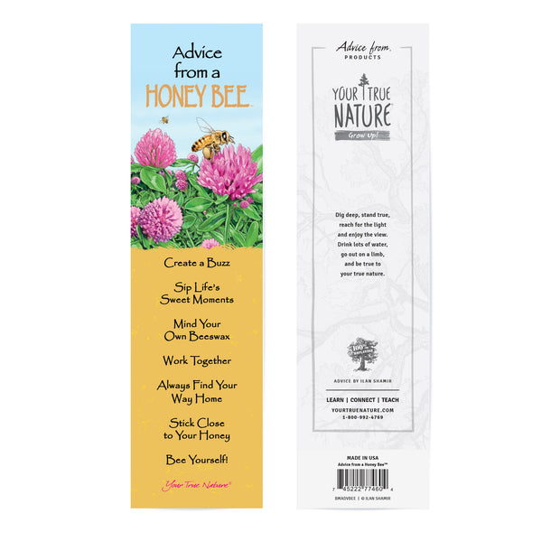 Classic Honey Bee Laminated Bookmark