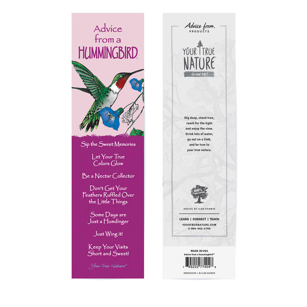 Classic Hummingbird Laminated Bookmark