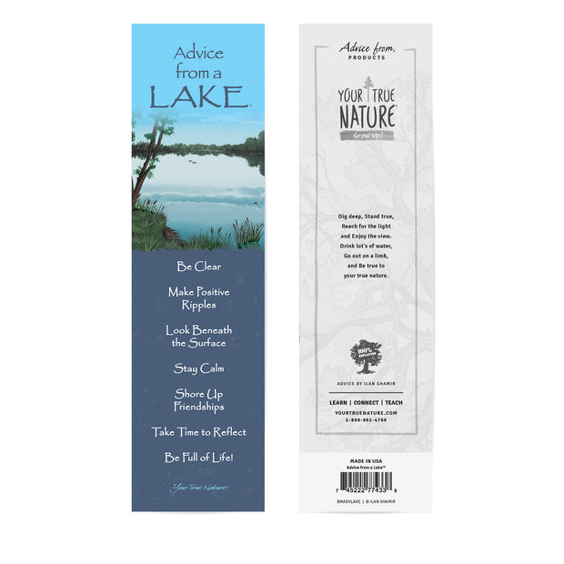 Classic Lake Laminated Bookmark