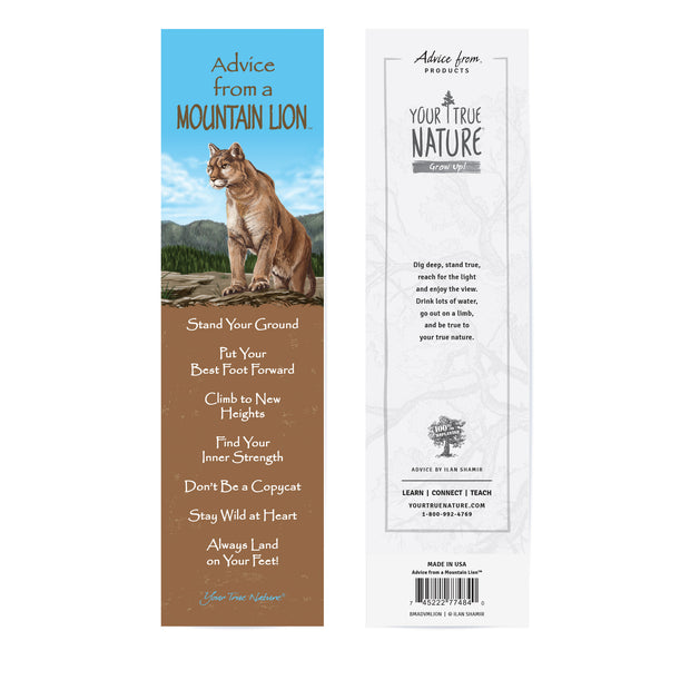 Classic Mountain Lion Laminated Bookmark