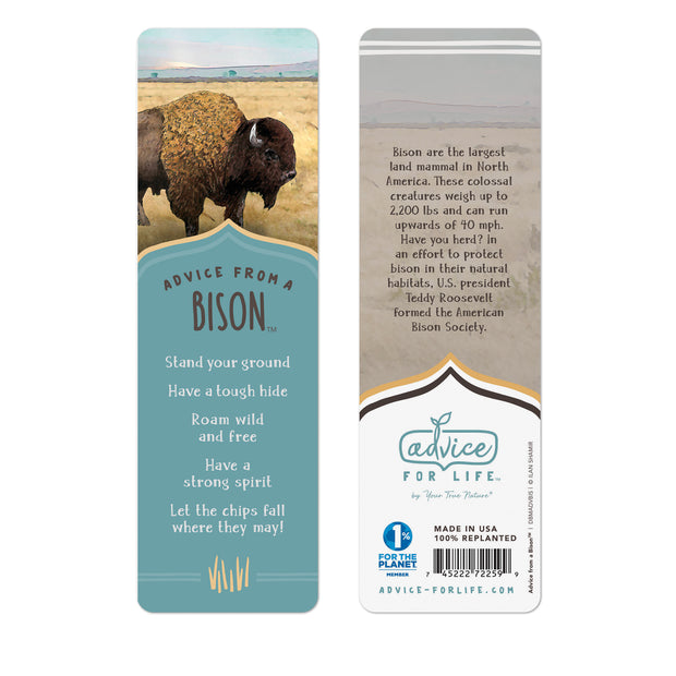 Bison Paper Bookmark