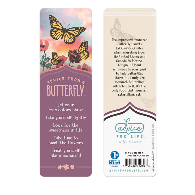 Advice from a Butterfly Paper Bookmark