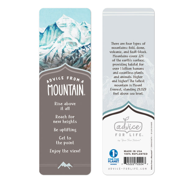 Mountain Paper Bookmark