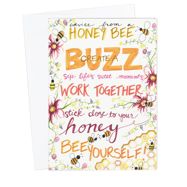 Classic Honey Bee Greeting Card - Special Artist