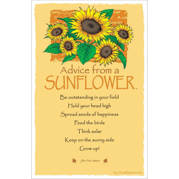 Advice from a Sunflower Frameable Art Card