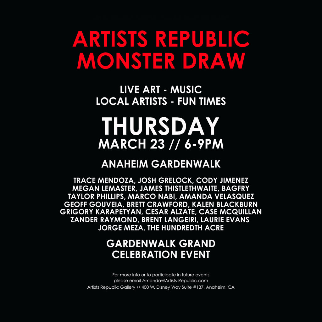 Upcoming Event - Monster Draw, Thursday March 23rd, 6-9pm