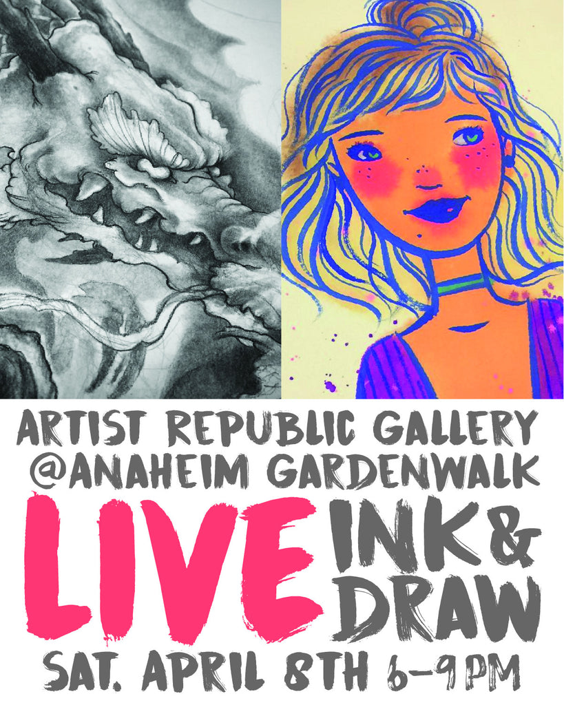 Upcoming Event - LIVE ink & draw, April 8th, 6-9pm