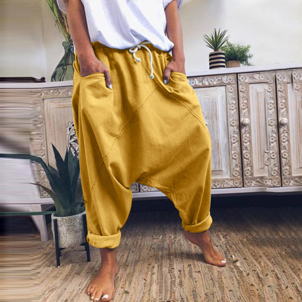 Hip Hop Loose Trousers With Pocket - NSQUARE
