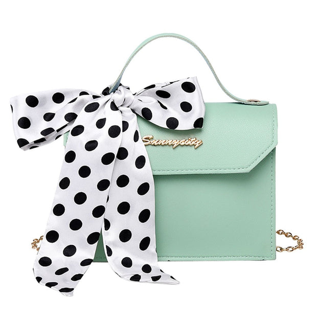 Small Crossbody Bag with Bow - NSQUARE