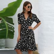 Bohemian Floral Dotted Dress - NSQUARE