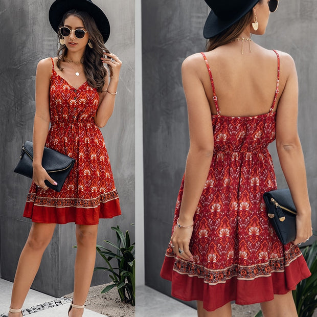Backless Mini Sleeveless Dress at 31.99