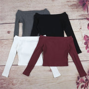 Crop Top Long Sleeve Tee - NSQUARE
