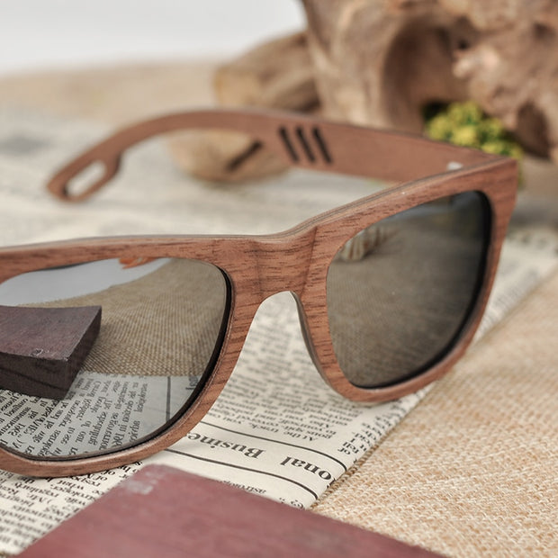 Wooden Finish Sunglass - NSQUARE