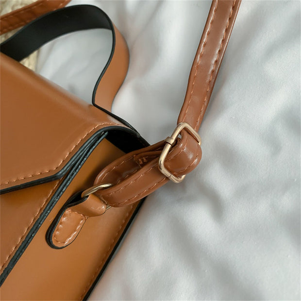 Leather Small Square Bag - NSQUARE