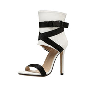 High Heels Black Bandage Shoe - NSQUARE