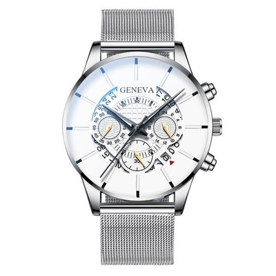 Stainless Steel Calendar Wristwatch - NSQUARE