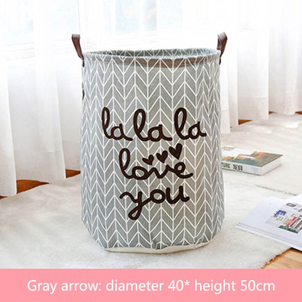 Laundry Basket with Funky Writing - NSQUARE