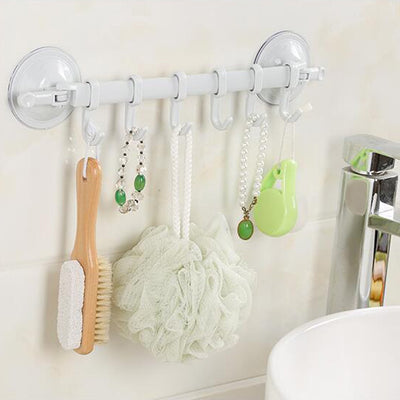 6 Hooks Bathroom Hanger at 3.00