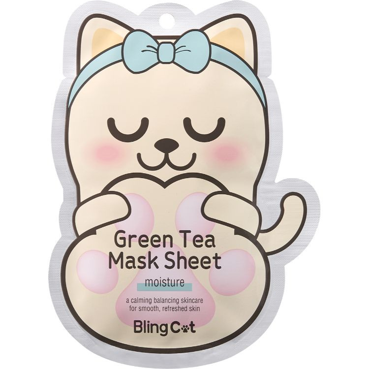 BLING CAT GREENTEA MASK _ MOISTURE