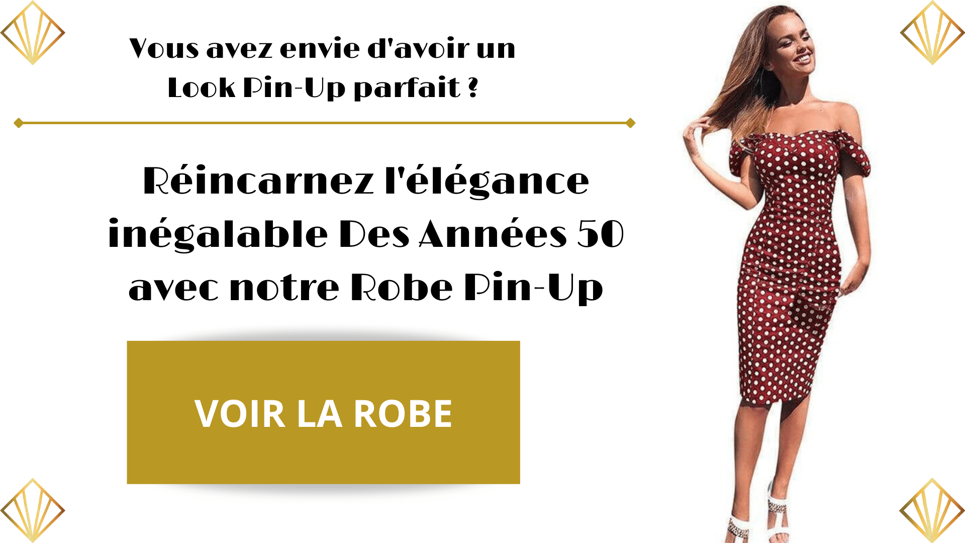 Robe Pin-Up Vintage Années 50