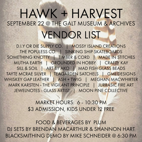 Hawk and Harvest Sale 2018, Galt Museum and Archives