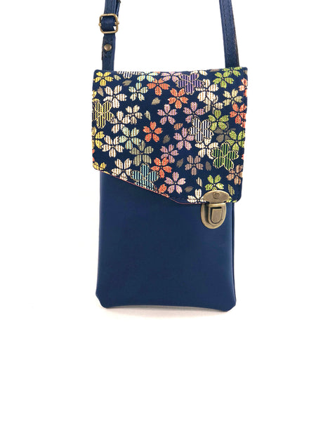 Plum Blossom Cobalt Pocket Purse