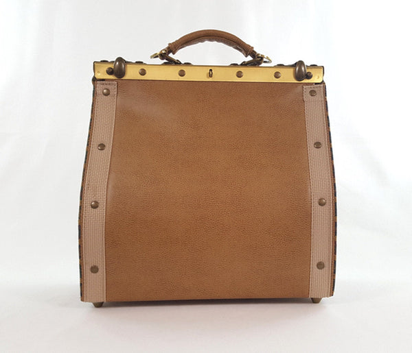 Vintage Satchel 'Tan Window Panes'