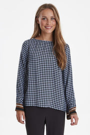 Kaylie Long Sleeve Top - Country Blue