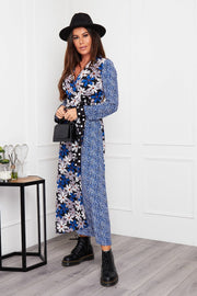 Kinsley Wrap Dress - Blue Mix